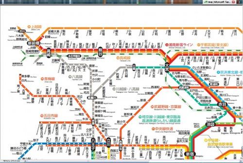 WEB上のJR東日本の路線図PDF